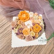 Piping floral cake裱花蛋糕7