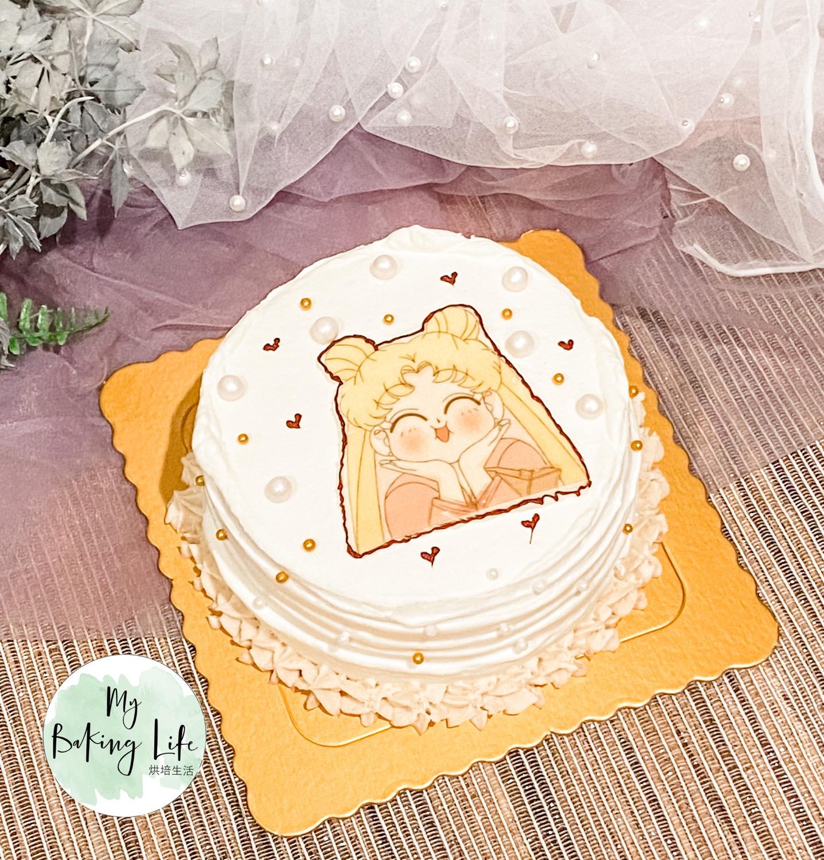 巧克力飾片蛋糕