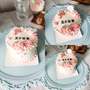 Bean paste floral cake  小清新錶花芒果蛋糕