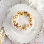 Piping floral cake裱花蛋糕1