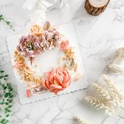 Piping floral cake裱花蛋糕2