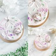 鮮奶油刮刀花蛋糕001