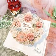 Piping floral cake裱花蛋糕6