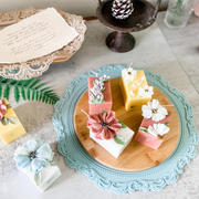 刮刀花蠟燭 handcrafted floral candle