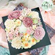 豆沙裱花花環蛋糕