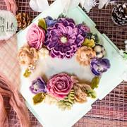 豆沙裱花雙月蛋糕