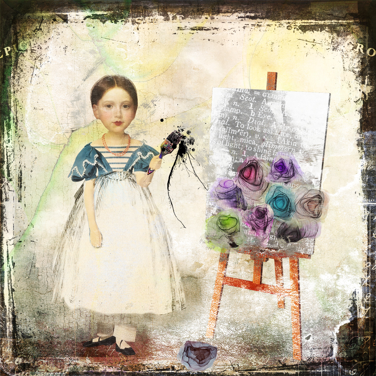 I am free to Paint Flowers - Renoir