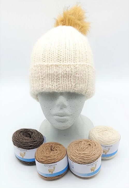 Knitting Kit - Aran Wide Rib hat