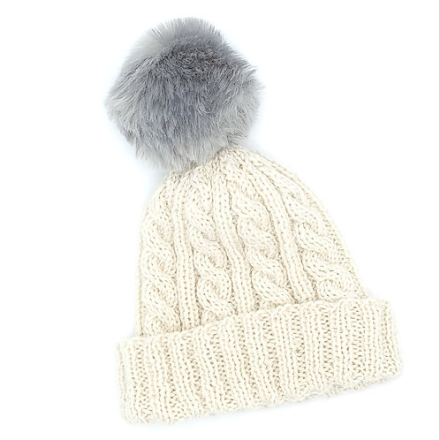 Knitting Kit - Cable Hat - Child and Adult size