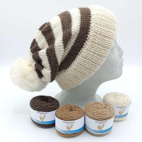 Knitting Kit - Stripy Bobble Hat