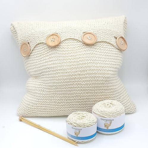 Knit Kit - Supersoft Aran Alpaca Cushion
