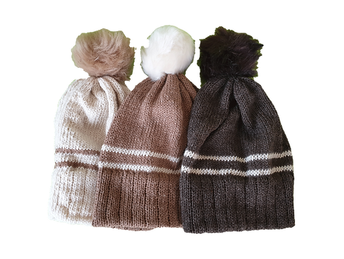 Two Stripe Classic Knit Hat