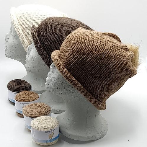 Knitting Kit - Roll-upLongdrop Hat