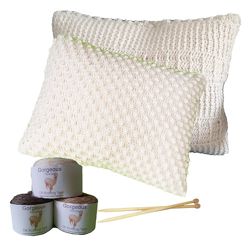 Crochet Kit- Supersoft Alpaca Small Cushion