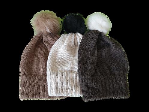 Alpaca one colour fixed brim hats