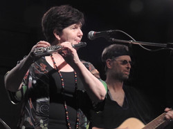 Debbie playing alto flute