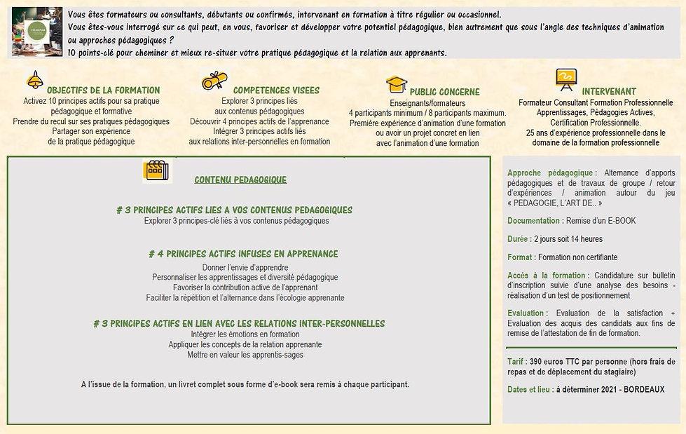 PROGRAMME 10 PRINCIPES ACTIFS PEDAGOFORM