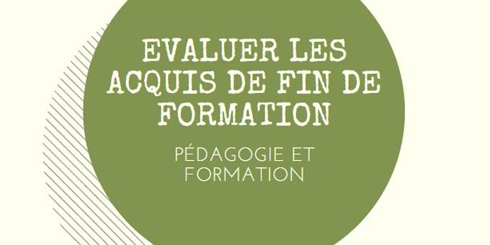 """COUP DE POUCE """"EVALUER LES ACQUIS DE FORMATION DE MANIERE SIMPLE ET EFFICACE"""""""