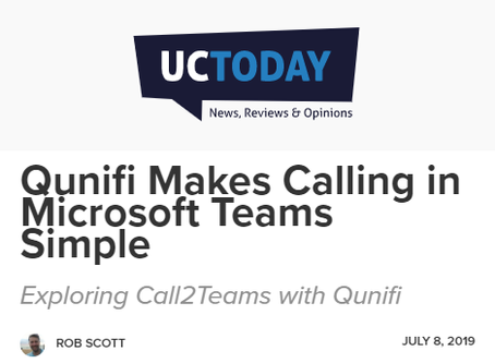 Call2Teams showcased in UC Today