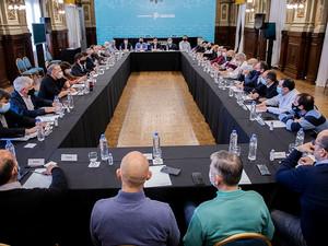 Kicillof encabezó una reunión con intendentes bonaerenses del Frente de Todos