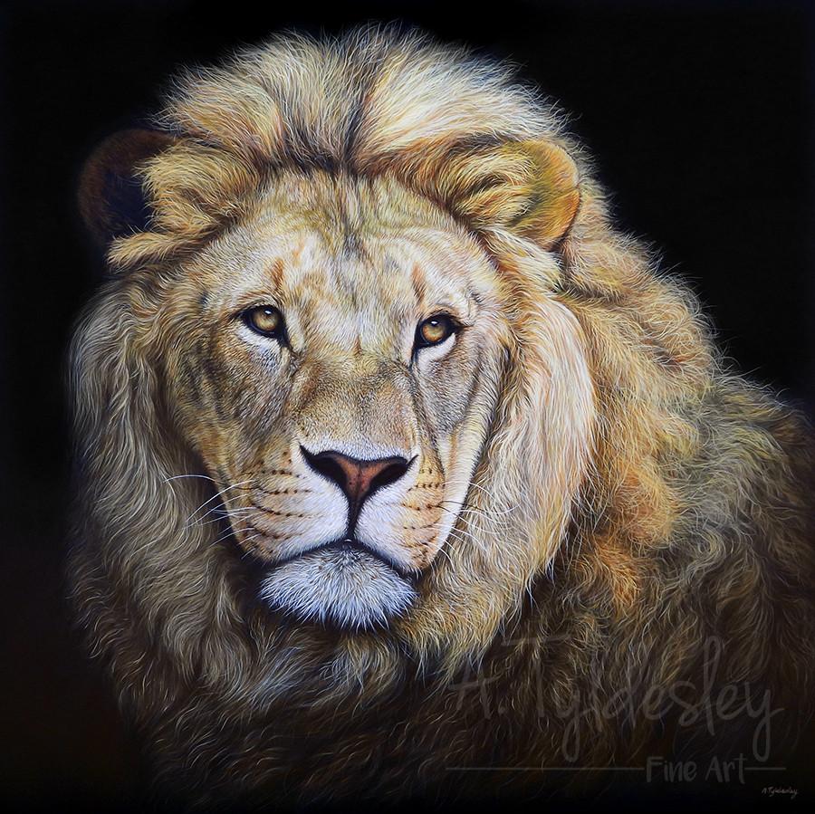 'Serene King'- 65cm x 65cm Acrylic & Resin (Available)