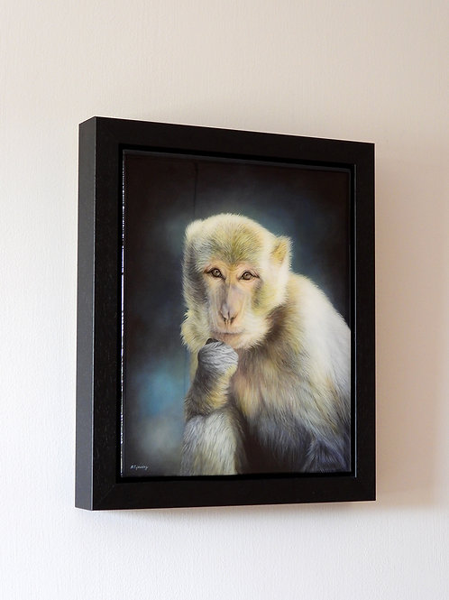 'The Thinker'- Framed Original Acrylic Painting with Resin Finish