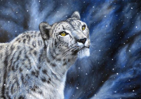 'The Snow Queen'- 100cm x 70cm Acrylic on Canvas - £500.00