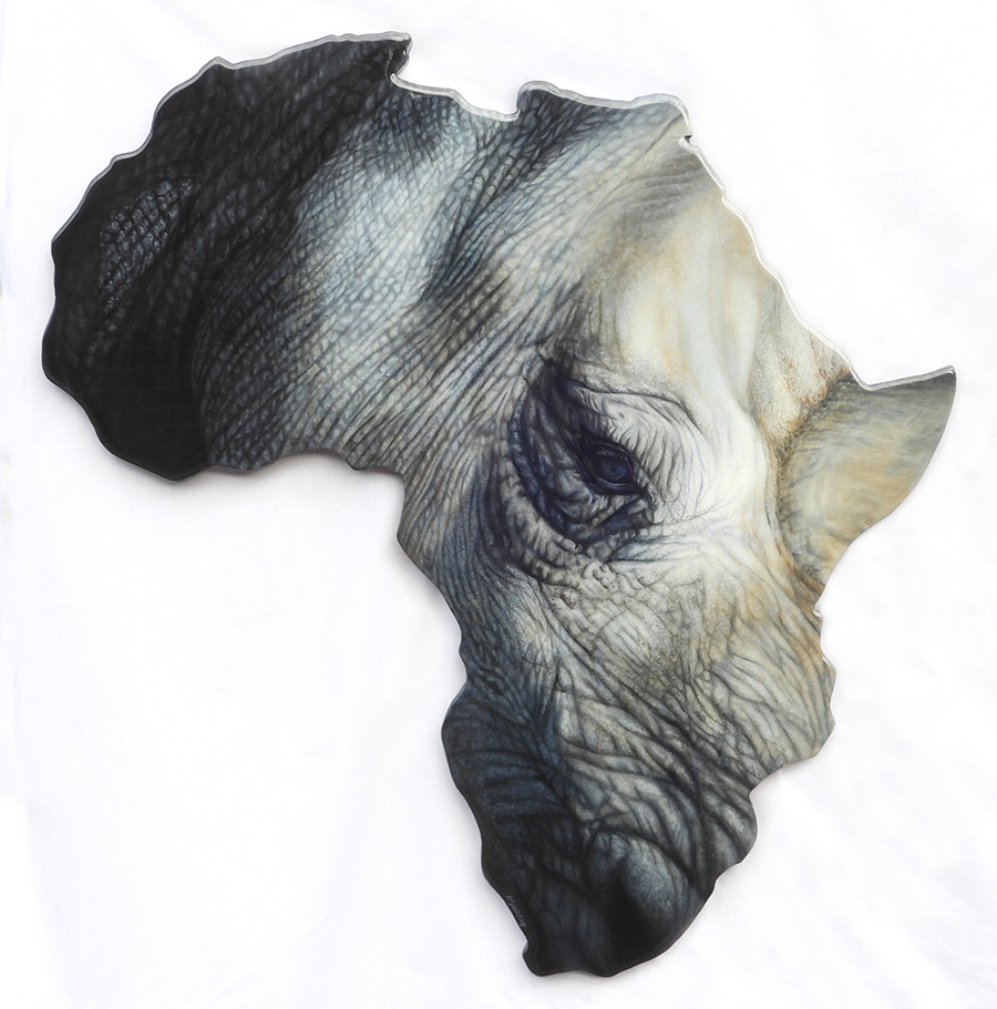 'The Horn of Africa'- 69cm x 72cm Acrylic & Resin (SOLD)