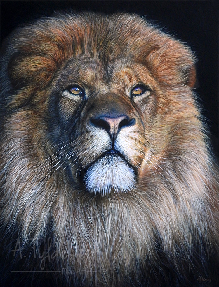 'Portrait of a King'- 37cm x 48cm Acrylic & Resin (SOLD)