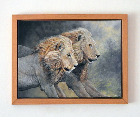 """'The Chase is On' - 24"""" x 18"""" (plus frame) Acrylic on Canvas - £325.00"""