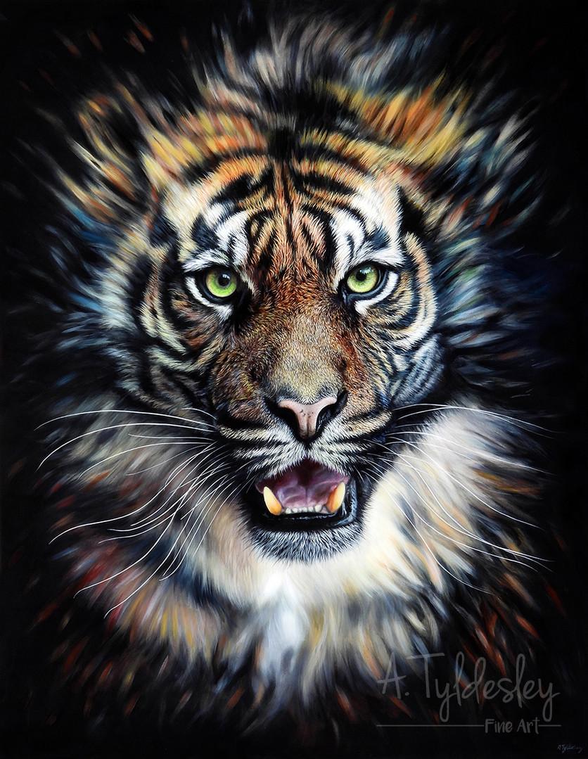 'Evanescence'- 90cm x 70cm Acrylic & Resin (Available)