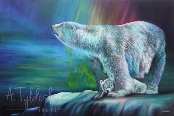 'Aurora Polaris'- 80cm x 60cm Acrylic on Canvas - £400.00