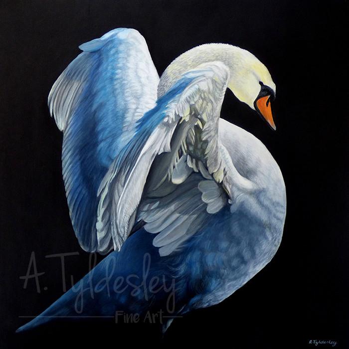 'Angelic'- 35cm x 35cm Acrylic & Resin (SOLD)