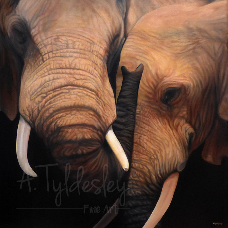 'Never Forget'- 60cm x 60cm Acrylic on Canvas (SOLD)