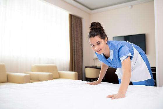 pretty-room-maid-blue-uniform-white-apro
