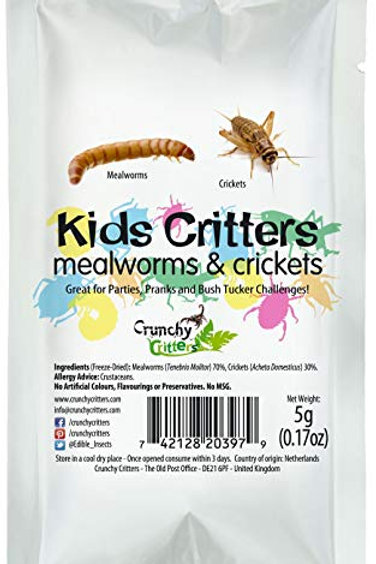 Kids Critters Mealworms & Crickets - 5 grams