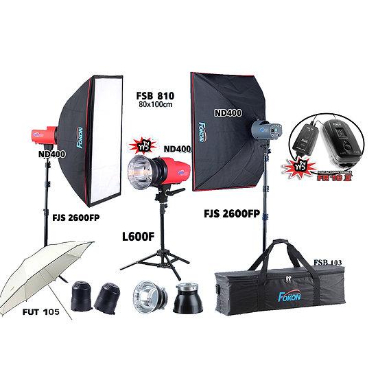 ชุดไฟสตูดิโอ Fokon รุ่น ND 400 Set ระบบ Mannual พร้อมใช้งานด้วย Tri