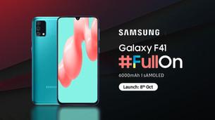 เปิดตัว Samsung Galaxy F41 แบตจุ 6,000 mAh