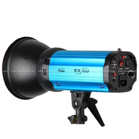 หัวไฟแฟลช FOKOX Ex 400 Series Set แบบใช้แบตเตอรี่ ระบบ Mannual พร้อ