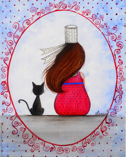 Breizhounette et son chat