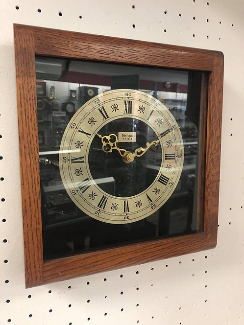 Wood Square Case -Wall Clock
