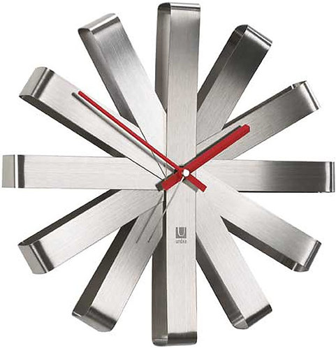 Umbra Ribbon Silent Sweep Wall Clock
