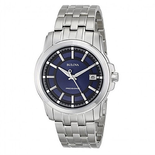Bulova Precisionist Blue Dial Round Men's Watch 96B159