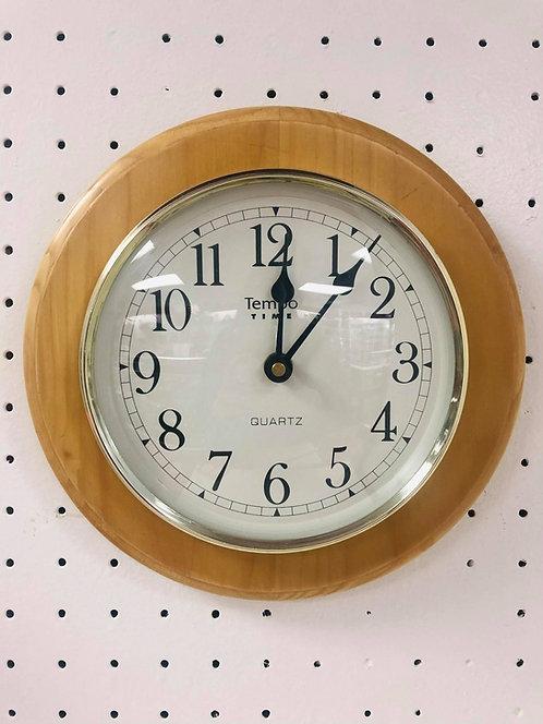 Oak Wood Wall Clock