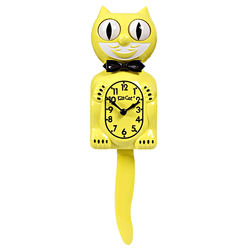 Majestic Yellow Kit Kat Clock
