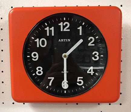 Vintage Artin Orange Wall Clock