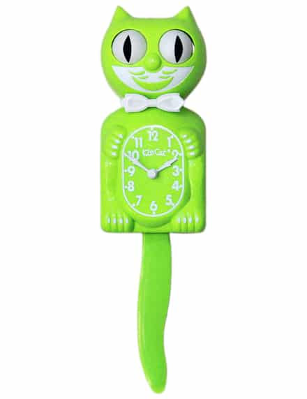 Fun Chartreuse Kit-Cat Klock