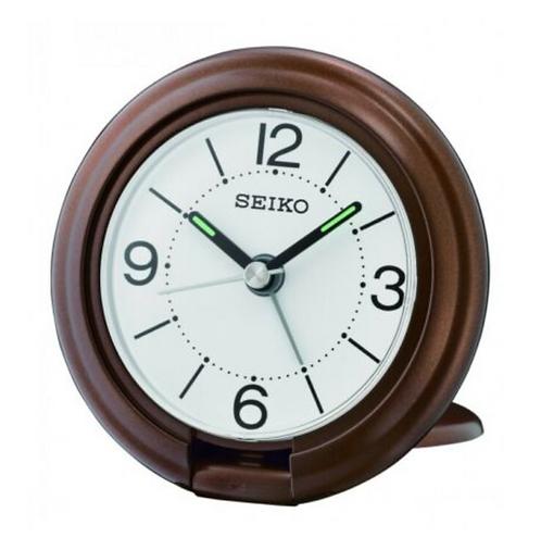 Travel Alarm Clock - Brown