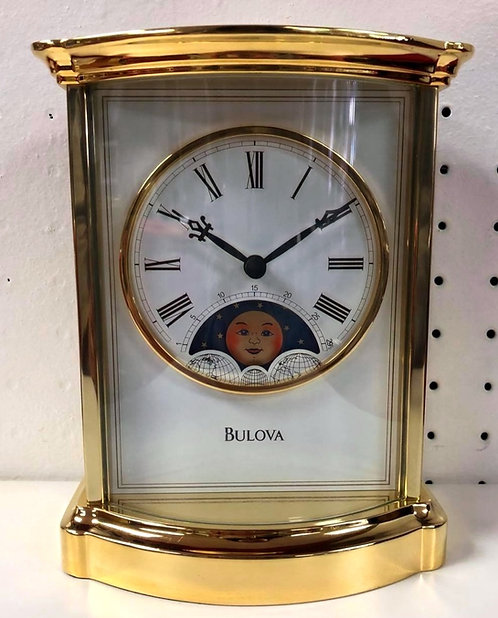 Bulova Moon Dial Table Clock