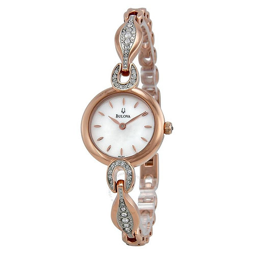 Bulova Crystal White Mother of Pearl Dial